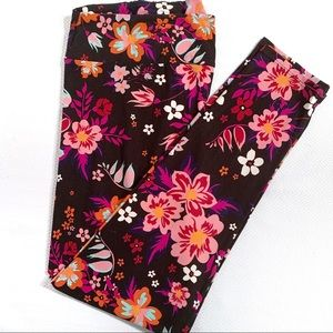 LuLaRoe TC2 Floral Leggings Size 18-28